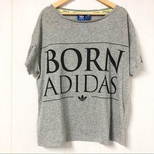 Adidas BORN Adidas Grey T Shirt